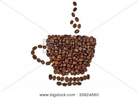 A Cup Made Of Coffee Beans