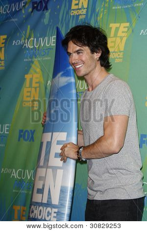 LOS ANGELES - AUG 7: Ian Somerhalder at the 2011 Teen Choice Awards held at Gibson Amphitheatre on August 7, 2011 in Los Angeles, California