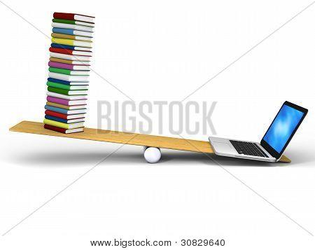 Technologie im Vergleich zu Büchern