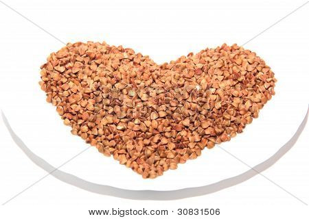 Buckwheat Heart On A Saucer