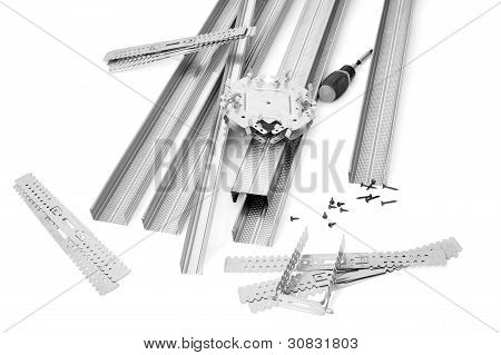 Components And Fixture For Installation Of Gypsum Panels