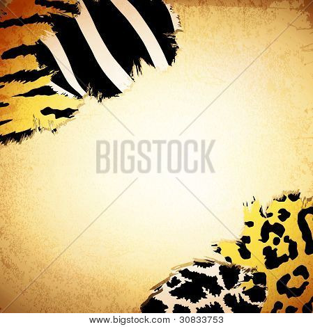 Vintage Background With Some Animal Prints