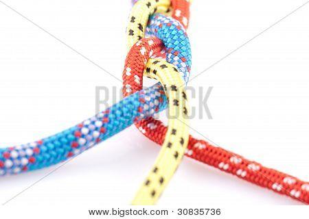trenza de cuerda tricolor