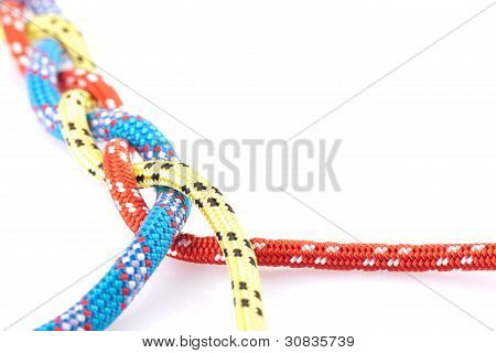 three colour rope braid