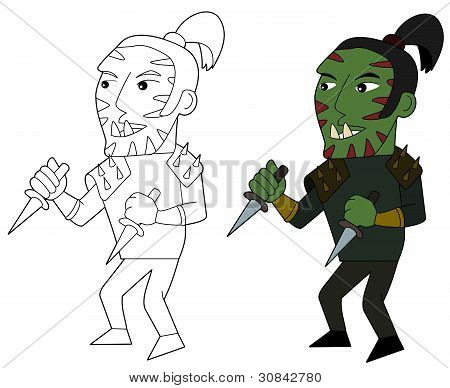 Orc Assasin Cartoon
