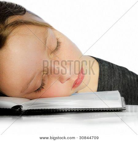 Closeup Of Girl Sleeping