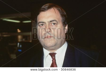 BRIGHTON, ENGLAND - OCTOBER 1: John Prescott, Labour Member of Parliament for Hull East, attends the party conference on October 1, 1991 in Brighton, Sussex. He became  Deputy Prime Minister.in 1997.
