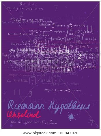 math styled poster