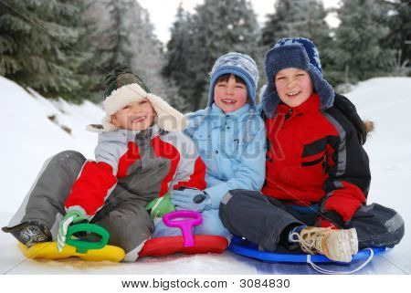 Children Winter Portrait