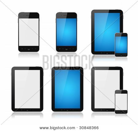 Mobile Smartphone mit Tablet-PC-Set