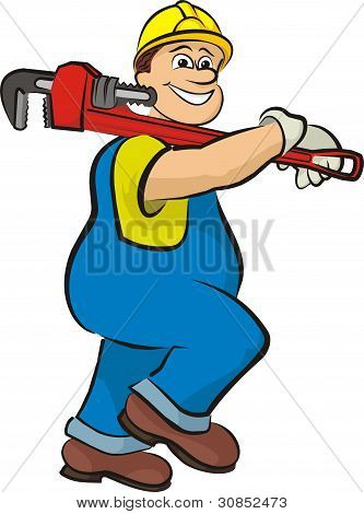 smiling plumber