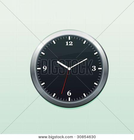 Dark clock on wall