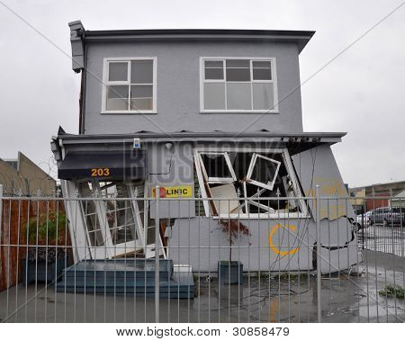 Christchurch Earthquake - House On A Lean
