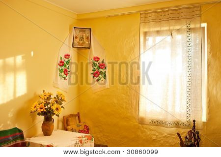 Ukrainian Ancient Design Interior.