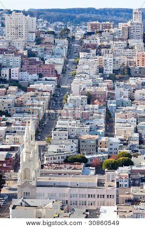 St Peter And Paul Church Hill Apartment Buildings San Francisco California