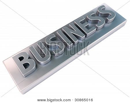 Business, metal letters