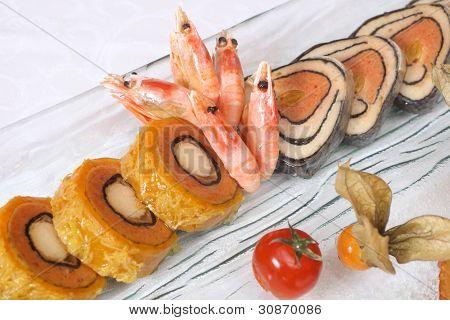 Stuffed Fish And Prawns