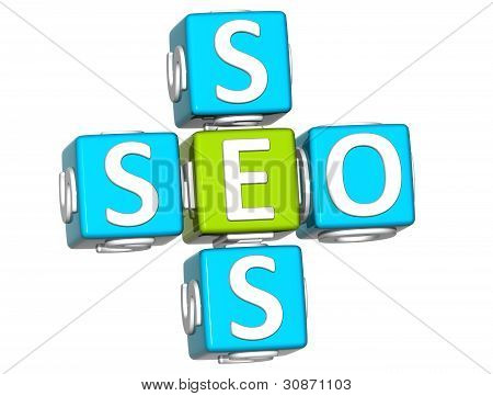 3D Seo Service Crossword Text