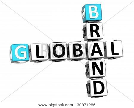 3D Global Brand Crossword Text