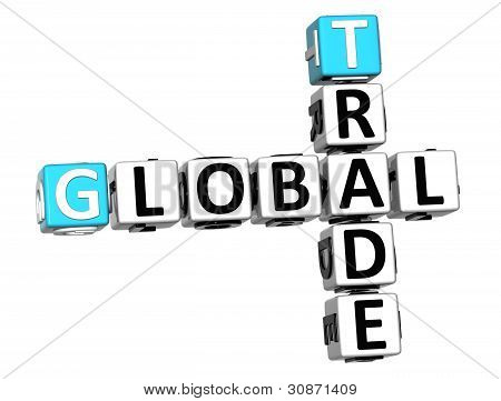 3D Global Trade Crossword Text