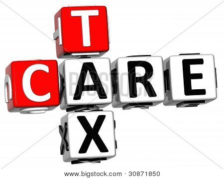 3D Tax Care Crossword Text