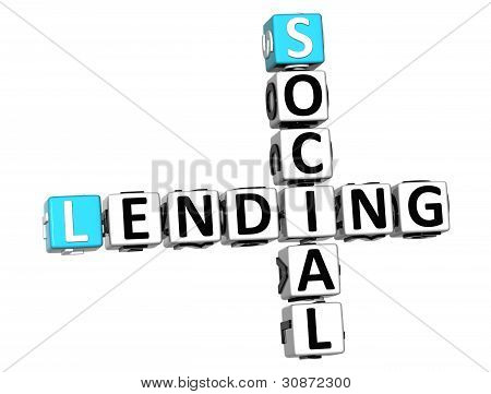 3D Social Lending Crossword Text