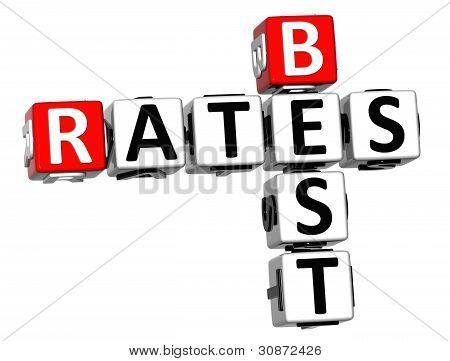 3D Best Today Rates Crossword