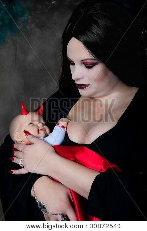 Vampire Mother And Baby