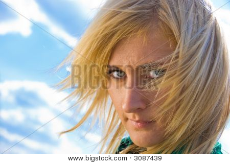 Stylish Blonde Portrait