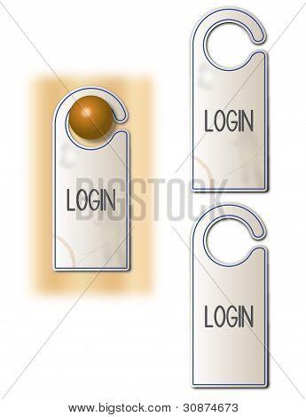 Login tag
