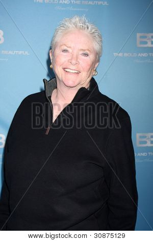 LOS ANGELES - MAR 10:  Susan Flannery arrives at the Bold and Beautiful 25th Anniversary Party at the Perch Resturant on March 10, 2012 in Los Angeles, CA