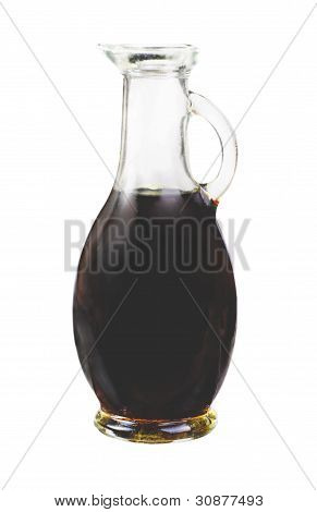 Vinegar Balsamico Bottle Isolated On White Background