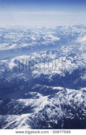 Aerial Photo Alps