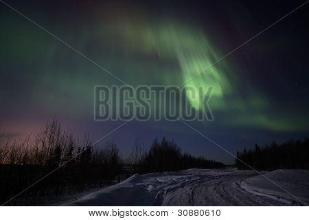 Strong display of Northern Lights
