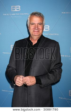 LOS ANGELES - MAR 10:  John McCook arrives at the Bold and Beautiful 25th Anniversary Party at the Perch Resturant on March 10, 2012 in Los Angeles, CA