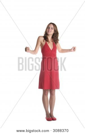 Woman Clench Her Fist