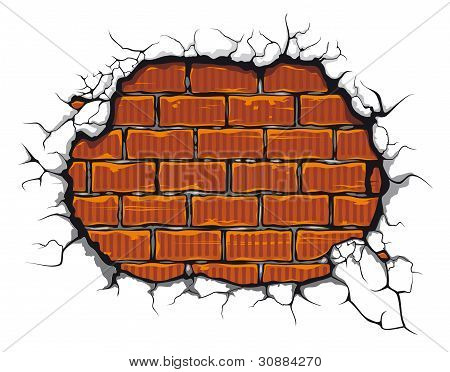 Damaged Brickwall