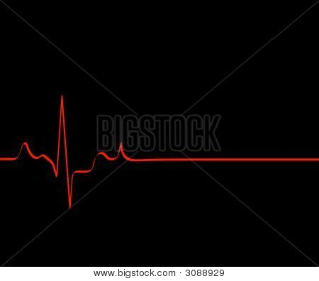 Heart Rhythm On Black