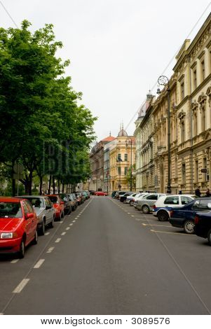 Empty Streets On Weekend In Zagreb Croatia