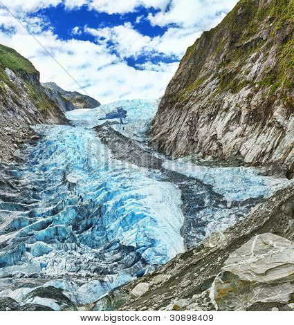 Franz Josef glacier in New Zealand