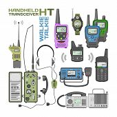 Walki-talkie Vector Radio Portable Transmitter Wireless Mobile Communication Device Technology Walki poster