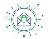 Web Mail Line Icon. Message Correspondence Sign. E-mail Symbol. Quality Design Elements. Technology  poster