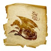foto of chinese zodiac  - Dragon Zodiac icon isolated on white background - JPG