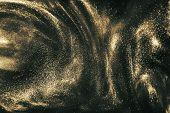 Black And Gold Festive Shimmering Background poster