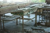 Classroom In Abandoned School Number 3 In Pripyat, Chernobyl Alienation Zone poster