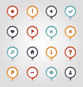 Pin Map Icon Set. Map Pointer. Map Markers. Destination Vector Icon. Gps Location Symbol. Mapping Pi poster