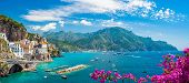 Landscape With Atrani Town At Famous Amalfi Coast, Italy poster