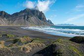 Vestrahorn Mountain In Stokksnes, Iceland poster