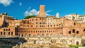 Trajans Forum With Ancient Market, Rome, Italy poster