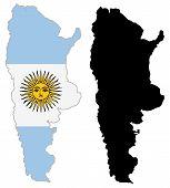 Постер, плакат: Аргентина карта флаг